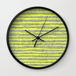 Arrow - Yellow Wall Clock