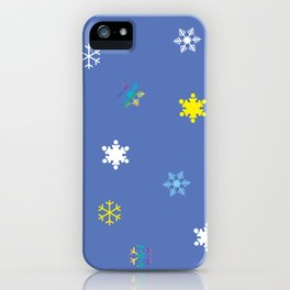 Snowflakes_A iPhone Case