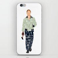 ryan gosling iPhone & iPod Skins featuring Ryan Gosling by Ayse Deniz