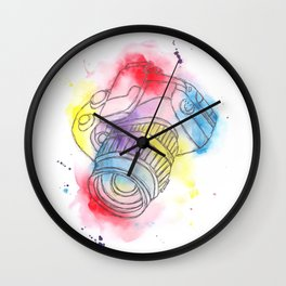 'Camera Obscura' Watercolour Illustration Painting Wall Clock