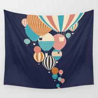 hot air balloons Wall Tapestries featuring Balloons by Jay Fleck