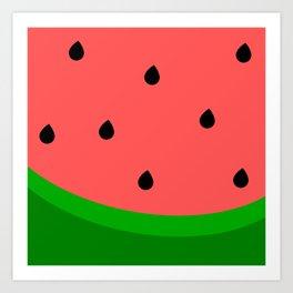 Whimsical Watermelon Art Print