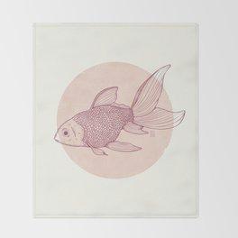 Lonely Goldfish Throw Blanket