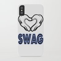 swag iPhone & iPod Cases featuring SWAG by Gold Blood