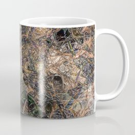 Abstract material shinny surface texture pattern digital illustration concept design graphic style b Coffee Mug