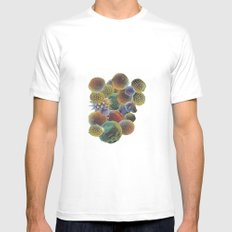 Micro-pollen White MEDIUM Mens Fitted Tee