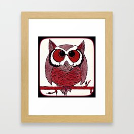 CHUBBY OWL Framed Art Print