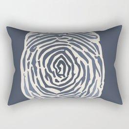 Fingerprint Study Rectangular Pillow