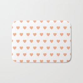 Polka dot hearts - pink Bath Mat