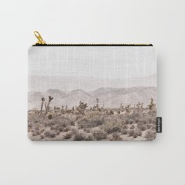 Sierra Nevada Mojave // Desert Landscape Blush Cactus Mountain Range Las Vegas Photography Carry-All Pouch