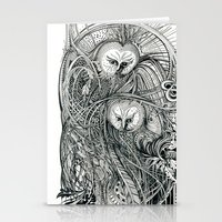 owls Stationery Cards featuring Owls by Irina Vinnik