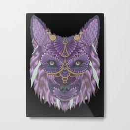 Golden She-Wolf  Metal Print