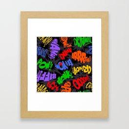 Biff Bam Pow! Framed Art Print