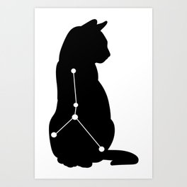 cancer cat Art Print