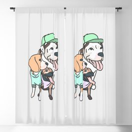 Dog Squad Goals Blackout Curtain