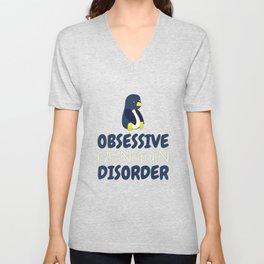 Obsessive Penguin Disorder Unisex V-Neck