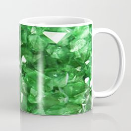 EMERALD GREEN CRYSTALS  MAY BIRTHSTONE Coffee Mug