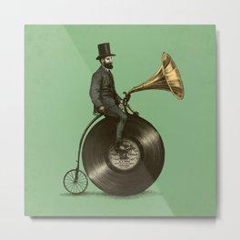 Music Man (Green Option) Metal Print