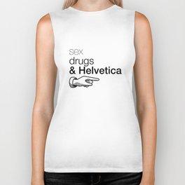 Sex, drug & Helvetica Biker Tank