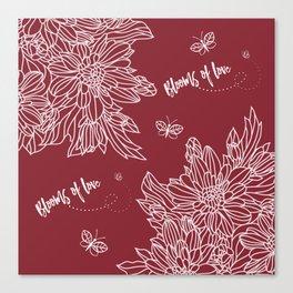 Blooms of Love-Fuchsia Canvas Print