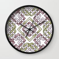 celtic Wall Clocks featuring Celtic Knotwork by Carrie at Dendryad Art