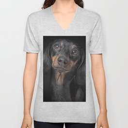 Drawing Dog breed dachshund Unisex V-Neck