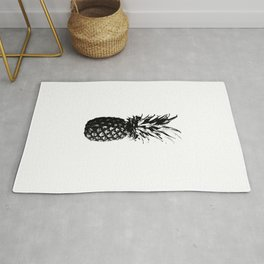 Black and White Pineapple Rug