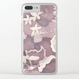 Floral Paisley Clear iPhone Case