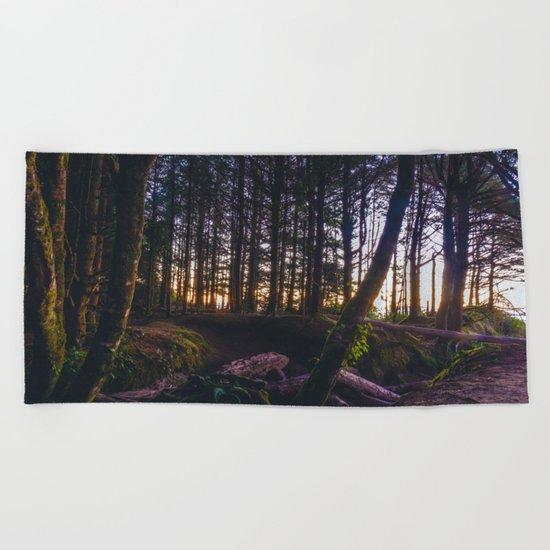Wooded Tofino Beach Towel