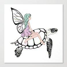Fairy/ Turtle  Canvas Print