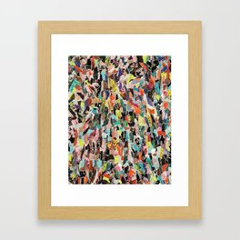 Floral Screen Framed Art Print