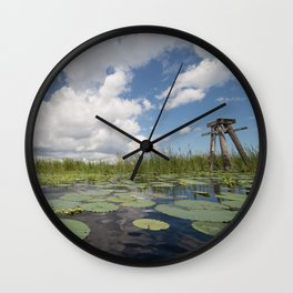 From a Frog's Point of View Wall Clock