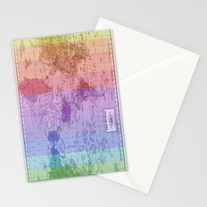 Rainbow World Map II Stationery Cards