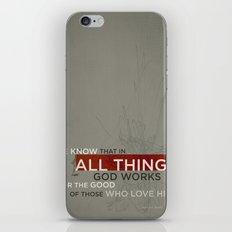 Romans 8:28 iPhone & iPod Skin