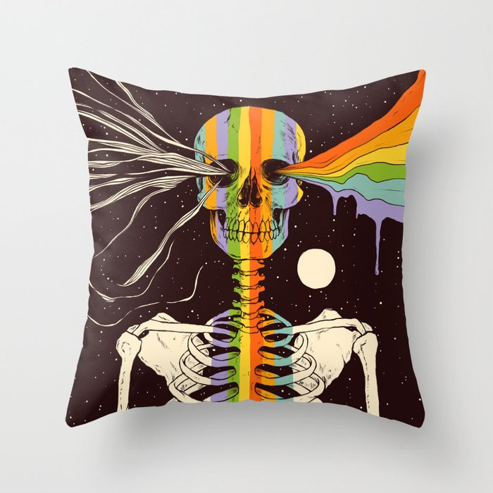 Dark Side of Existence Throw Pillow