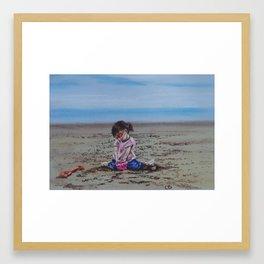 Summer sandcastles Framed Art Print