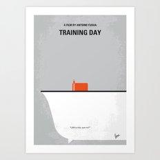 No497 My Training Day minimal movie poster Art Print