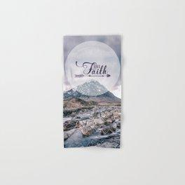 Have Faith Inspirational Typography Over Mountain Hand & Bath Towel