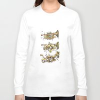 trumpet Long Sleeve T-shirts featuring Trumpet Melt by Dan Lisowski Illustration