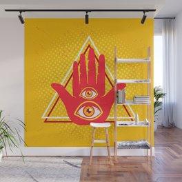 Hand and eye Wall Mural