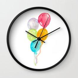 Balloons Painting Wall Clock
