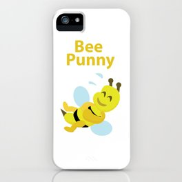 Bee Punny iPhone Case