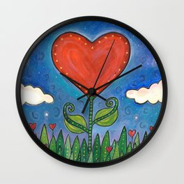 Let Love Grow Wall Clock