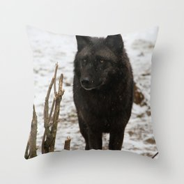 Wolves II  Throw Pillow