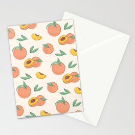 Peach with leaves Stationery Cards