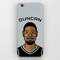 tim shumate iPhone & iPod Skins featuring Tim Duncan by Will Wild