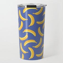 Bananas & Solid Blue Travel Mug