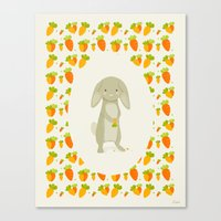 rabbit Canvas Prints featuring Rabbit by Jane Mathieu