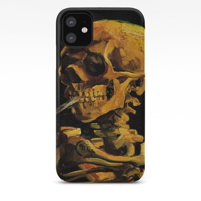 Van Gogh Skull Of A Skeleton With Burning Cigarette Van Goghvincent Van Goghimpressionistpost Iphone Case