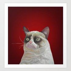 Grumpy Red Art Print